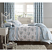 Dreams n Drapes Elodi Duck Egg King Quilt Cover Set - Duck Egg