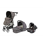 Baby Elegance Beep Twist Travel System - Black Polka