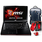 "MSI GP62 15.6"" Intel Core i7 Windows 10 16GB RAM 128GB SSD + 1000GB HDD Gaming Laptops Black"