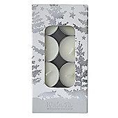 Silver Glitter Tealights
