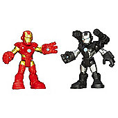 Playskool Heroes - 6cm Iron Man and War Machine Figures