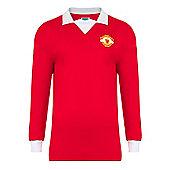 Man Utd 1973 No.7 Home LS Shirt - Red & White