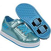 Heelys Spiffy Glitter Kids Heely X2 Shoe - Blue
