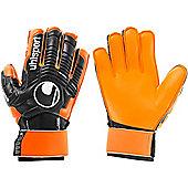Uhlsport Ergonomic Soft Supportframe+ Goalkeeper Gloves - Black
