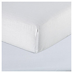 Basics White Double Fitted Sheet