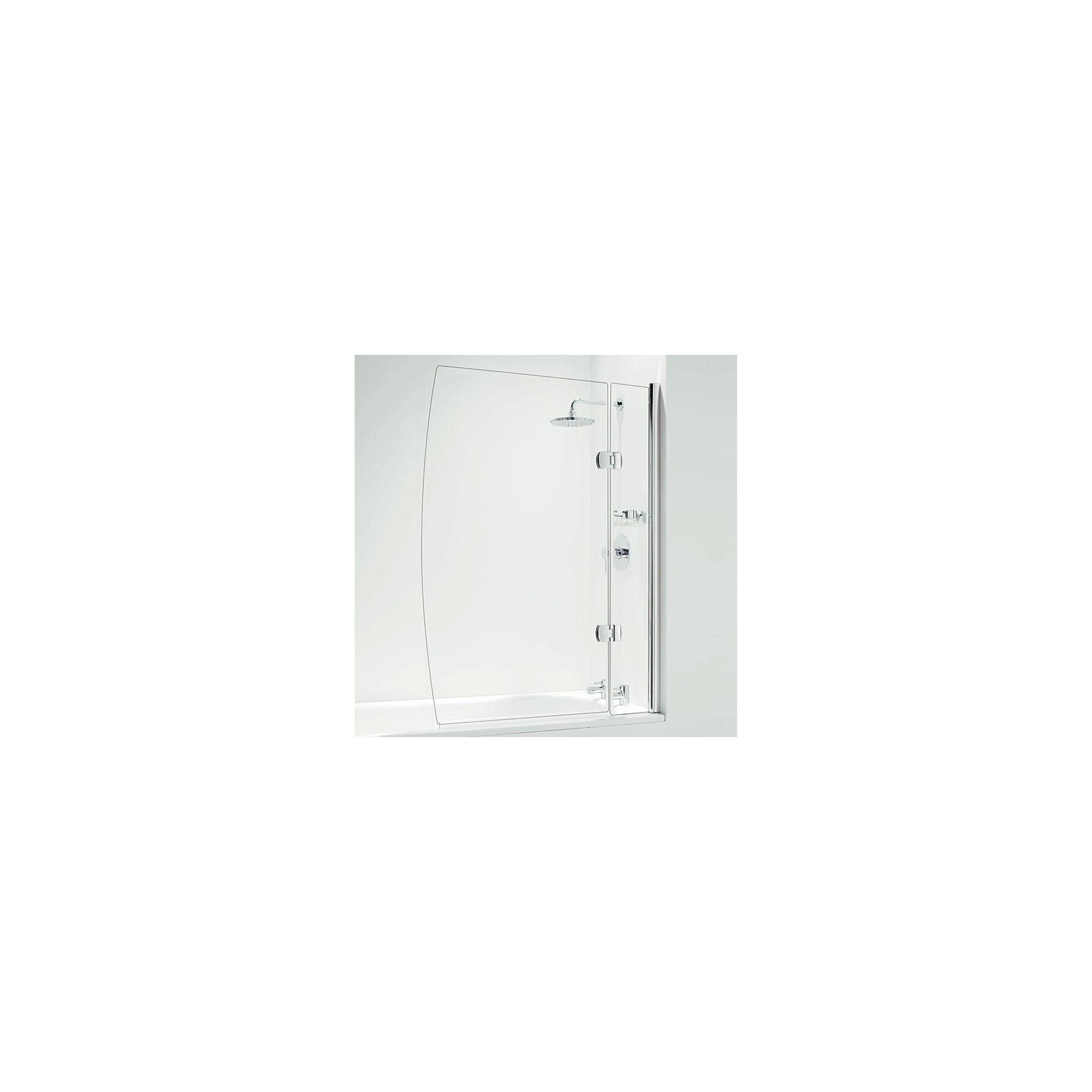 Coram Designer Hinged D Shape Bath Screen 1400mm High x 1050mm Wide - 5mm Glass at Tesco Direct