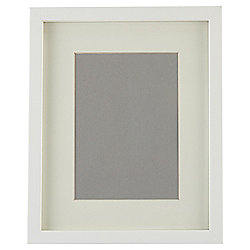 "Tesco Basic Photo Frame White 8 x 10""/5 x 7"" with Mount"