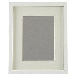"""Tesco Basic Photo Frame White 8 x 10""""/5 x 7"""" with Mount"""