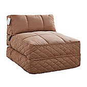 Leader Lifestyle Big Chill 1 Seater Fold Out Chair Bed - Mocha Brown Fabric