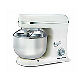 Morphy Richards 400004 800W Accents Stand Mixer with 6 Speeds & 5L Bowl in White