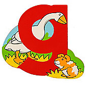 Bigjigs Toys BJL107 Wooden Magnetic Animal Letter Lowercase G (Designs Vary)