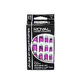 Royal 24 Glue-On Elegant Nail Tips - Pink
