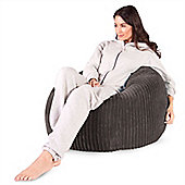 Lounge Pug™ Classic Cord Bean Bag - Graphite