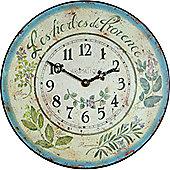 Roger Lascelles Clocks Herbes De Provence Wall Clock