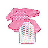 Mothercare Love Hearts Coveralls- 2 Pack