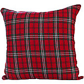Homescapes Cotton Edward Tartan Scatter Cushion, 60 x 60 cm