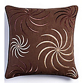 Catherine Lansfield Home SWIRL Cushion Cover (43x43cm) - Chocolate