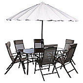 Roma 8-piece Steel & Polyester Outdoor Dining Set
