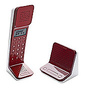 Swissvoice L7 Cordless Retro Designer Telephone with Stand Alone Intercom & TAM Base - Red