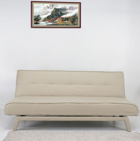 Leader Lifestyle Johansson Sofa Bed - Luscious Cream Faux Leather