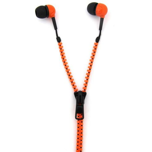 Zip Earphones - Orange/Black - Thumbs Up