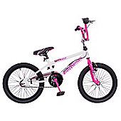 "Rooster Nemesis 20"" Freestyle Gyro Girls BMX White/Pink"