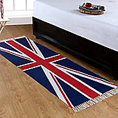 Homescapes Cotton Printed Rug Union Jack, 66 x 200 cm