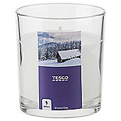 Tesco Snowy Day Filled Candle
