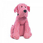Sitting Fabric Dog Door Stop for the Home