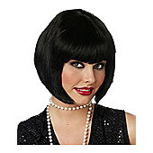 Adult Flapper Black Wig