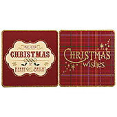 Tesco Tartan Christmas Cards, 12 Pack