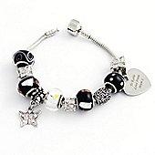 Personalised Monochrome Bead Bracelet - 21cm