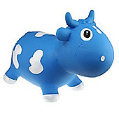 Bella inflatable cow space hopper - blue & white