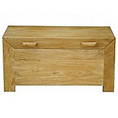 Homescapes Dakota Ottoman Blanket Box Oak Shade
