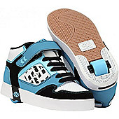 Heelys Stripes Teal/Black/Aqua/White Heely Shoe - Blue
