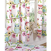Owl and Friends, Girls Curtains 54s - Multi