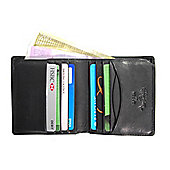 Tony Perotti Italian leather slim note case wallet for men. Black