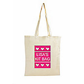 Personalised Small Hearts Cotton Bag