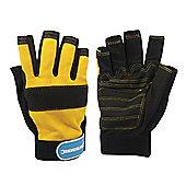 Silverline Fingerless Mechanics Gloves Medium