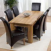 Mark Harris Furniture Barcelona Solid Oak Dining Table with Chairs
