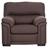 Sherringham Fabric High Back Armchair Chocolate