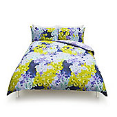 Pixel Floral Print Duvet Set, - Multi