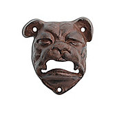 Cast Iron British Bull Dog Wall Mounted Bottle Opener