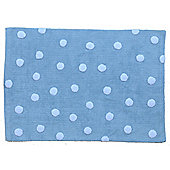 Lorena Canals Topos Blue Contemporary Rug - 120 cm W x 160 cm D (3 ft 11 in x 5 ft 3 in)