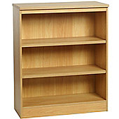 Enduro Three Shelf Wide Bookcase - Teak