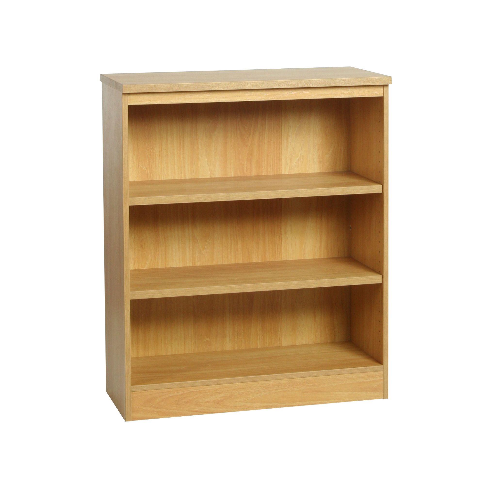 Enduro Three Shelf Wide Bookcase - Teak at Tesco Direct