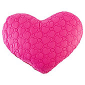 Tesco Kids Heart Shaped Cushion Pink