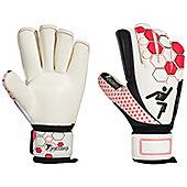 Precision Football Soccer Matrix Contact Rollfinger Goalkeeper Gloves - White