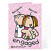 Personalised Bang on the Door Engagement Card