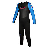 TWF Full wetsuit 2.5mm Black/Blue Age 13/14